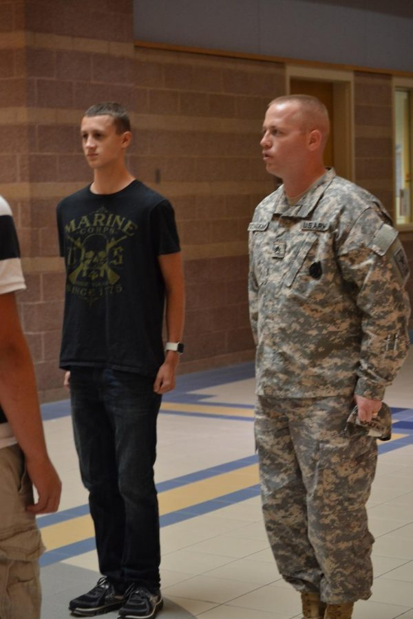 Students prepare for future in military