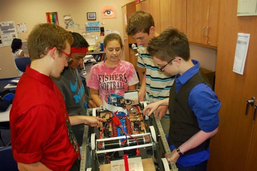 Students build future technology through Robotics Club