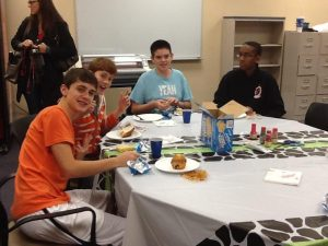 Members of Spanish club making crafts. - Photo submitted by Mrs. Druelinger