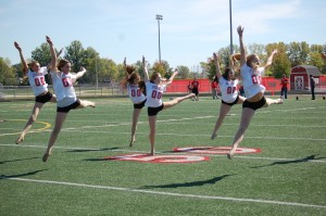 FHS Fusion Dance members perform in fall pep rally. -Photo taken by Jasmine Johnson