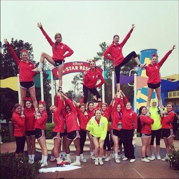Football cheer team returns from nationals in Orlando