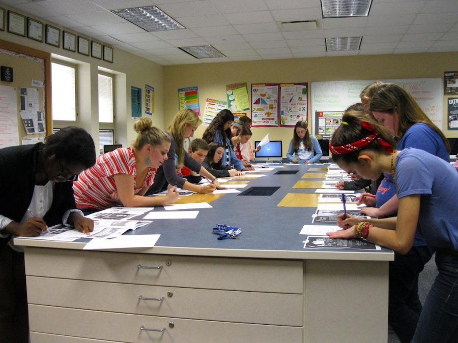 Yearbook peer edits each others work to be sure there are no errors in the final copy.