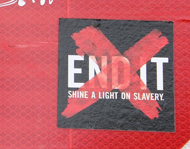 END IT: Shine a light on slavery day
