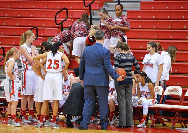 Girls basketball win on Senior Night