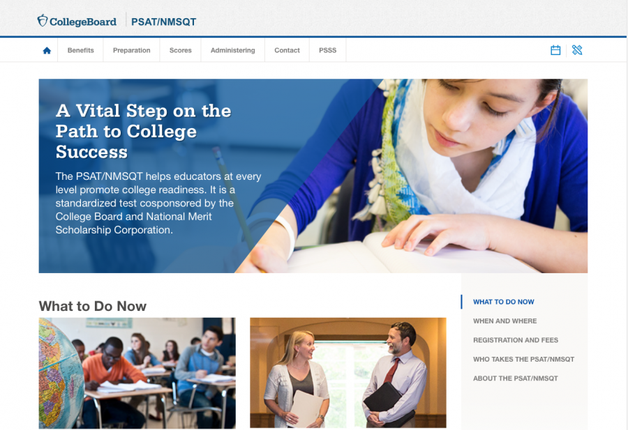 Students can go on College Board to check out their PSAT scores and schedule other tests. Photo taken by Luka Skudrzik.
