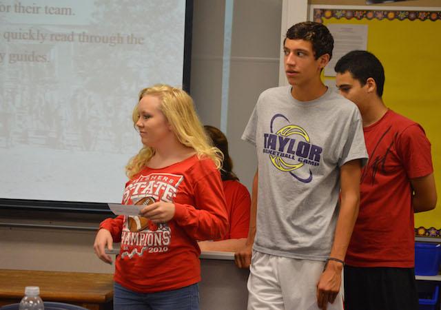 US History students experience draft