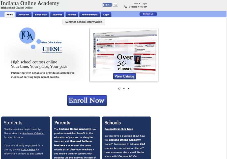 Students should go to indianaonlineacademy.org to register.