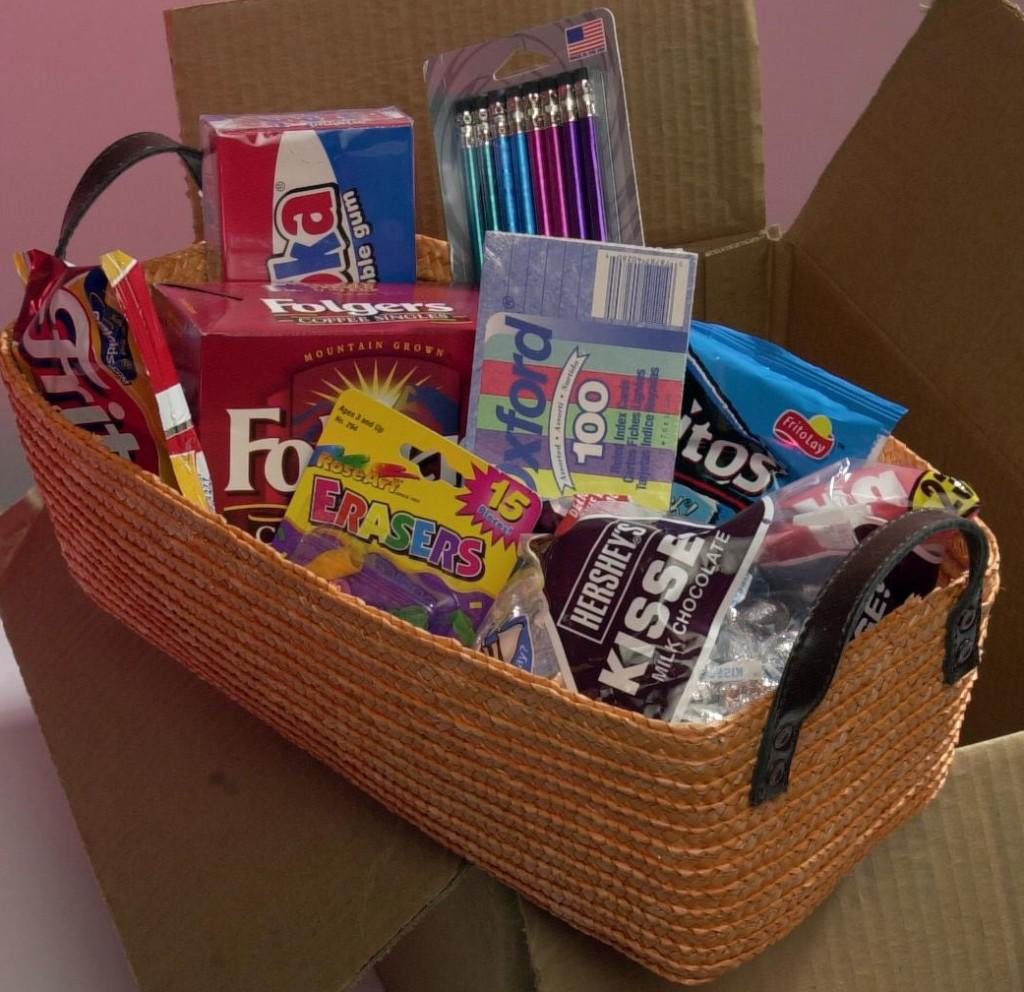 Care packages such as this one will include tools to help students focus during finals. Photo courtesy of MCT Campus.