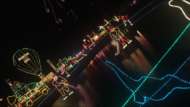 John Deers Christmas lights on Nov. 25