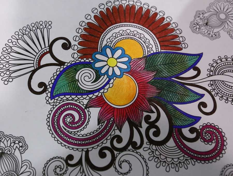 With simple pages and designs, coloring can be calming and relaxing. Photo courtesy of MCT Campus