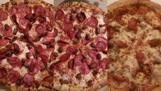 Pizza Big Three: Dominos, Pizza Hut and Papa Johns (left to right) are the nations most popular pizza chains. They are constantly competing against one another to gain the most recognition from the public.