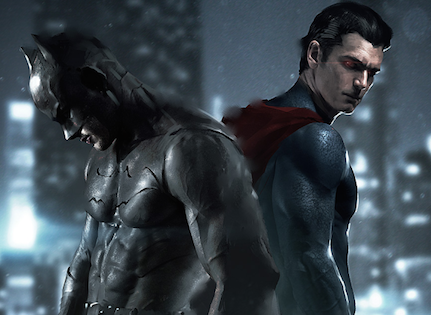 A version of an advertisement for the movie, Batman vs Superman: Dawn of Justice, made by an artist named Asahi Do on deviantart. Photo courtesy of Asahi Do.