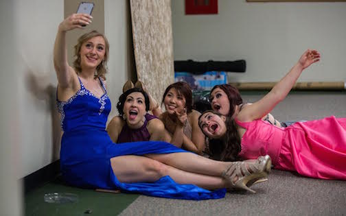 Students take a selfie during prom. Photo used with permission of MTC Campus.