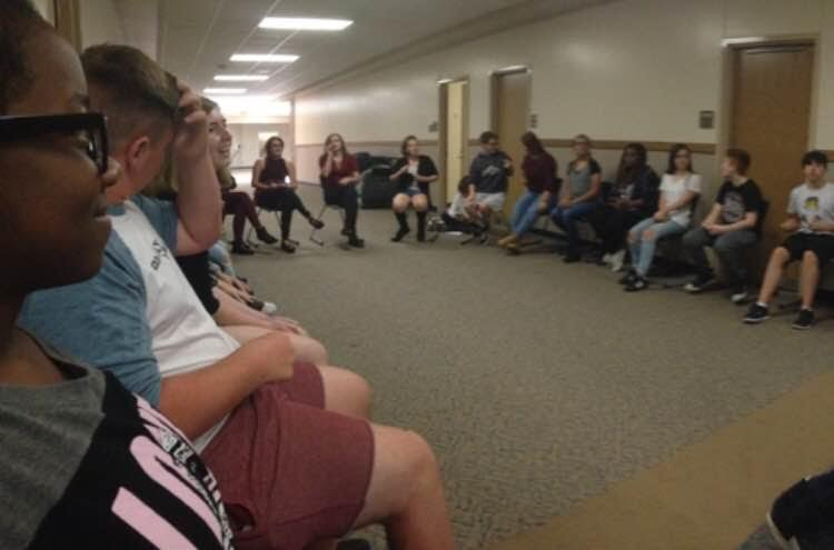 The GSA sits in a large circle where everyone can feel comfortable to talk during their meeting on Sept 21. Photo by Jason Nguyen.