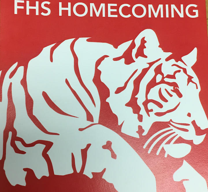 This years homecoming tickets are being sold outside the cafeterias. Photo by Emma Russell.