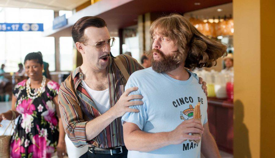 David Ghantt (Zach Galifianakis) tries to evade Mike Mckinney (Jason Sudekis), a hitman hired to kill Ghantt in Masterminds. Photo courtesy of Tribune News Service.