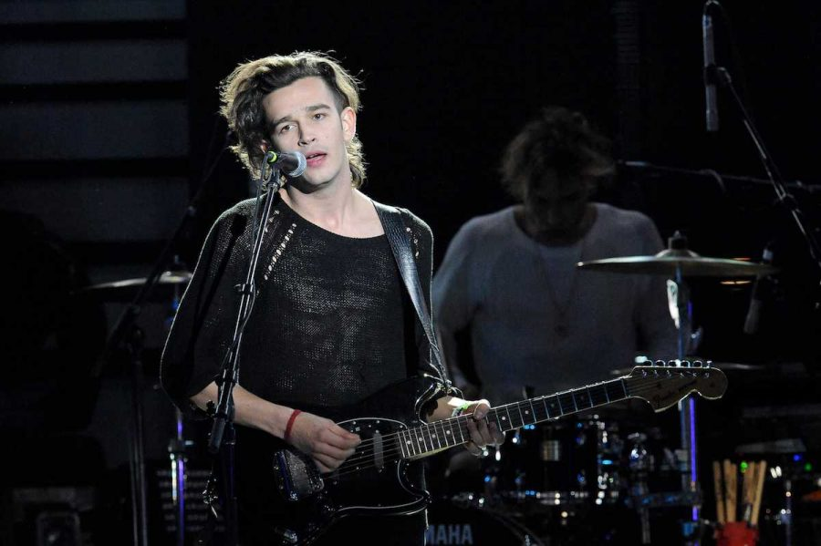 the 1975 performs at the mtvU Woodie Awards during SXSW in Austin, Texas, in 2014. Courtesy of Tribune News Service