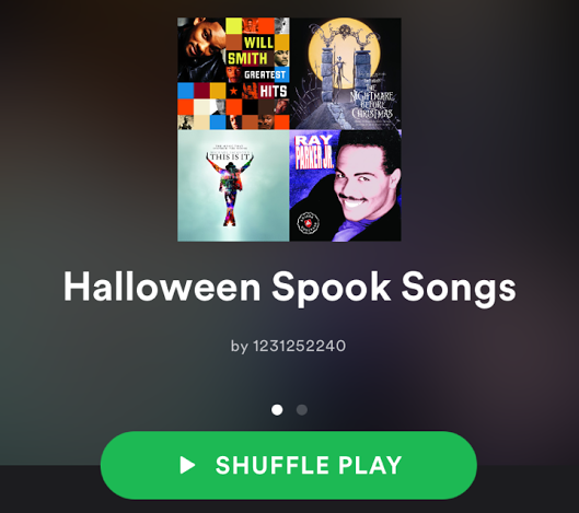 Students can create playlists on websites like Spotify to enjoy their spooky songs. Photo by Emma Russell