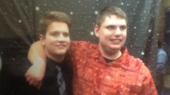 Kyle Linton and Sam Wise attend one of the best buddies events. Photo courtesy of  Hedy McGrath