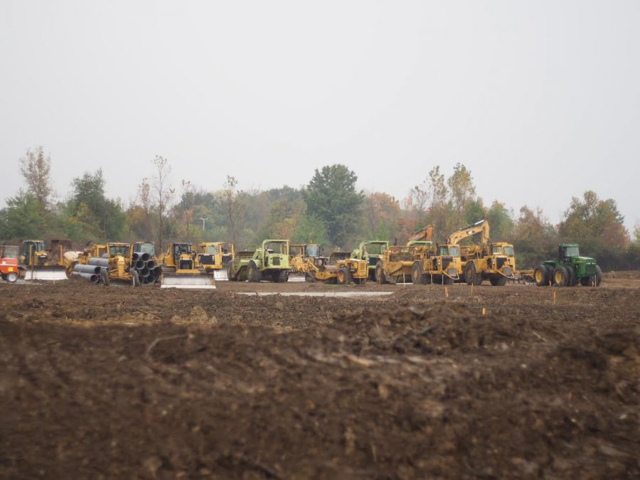 Construction begins on new IKEA store in Fishers, Indiana. Photo  by Alex Pope.