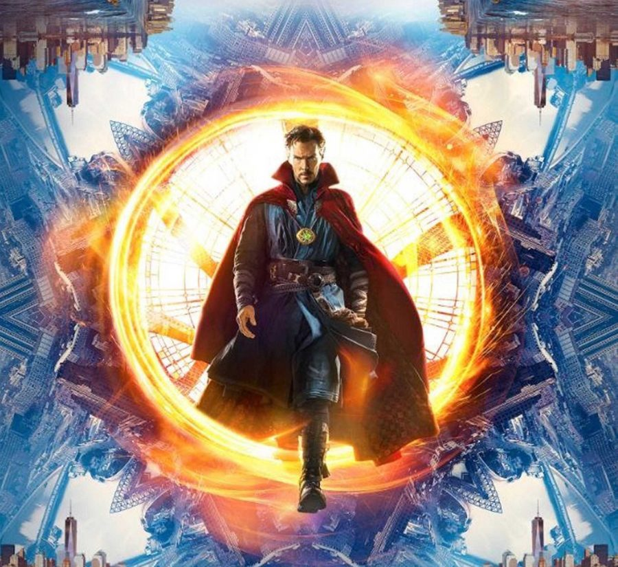 Benedict+Cumberbatch+as+Doctor+Strange+posing+on+the+cover+of+the+movies+poster.+Photo+courtesy+of+the+Tribune+News+Service.