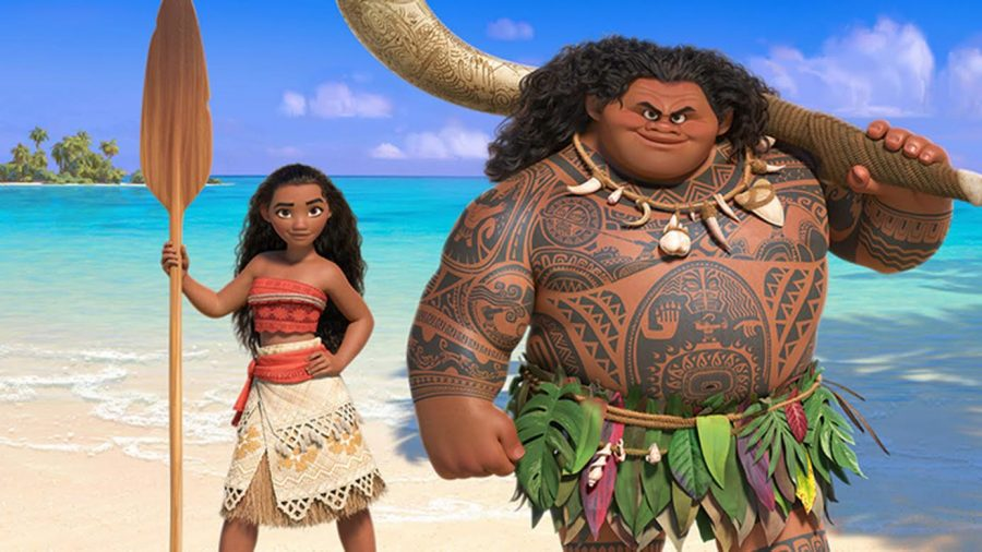 Disneys Moana was released on Nov 23, 2016. Pictured is Moana with the demigod Maui, played by Aulii Carvalho and Dwayne Johnson. photo courtesy of Tribune News Service.