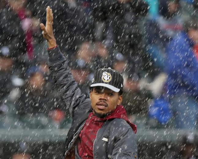 Chance the Rapper announces his exclusive apple music release Coloring Book at a Chicago concert in January. Photo used with the permission of Tribune News Service.