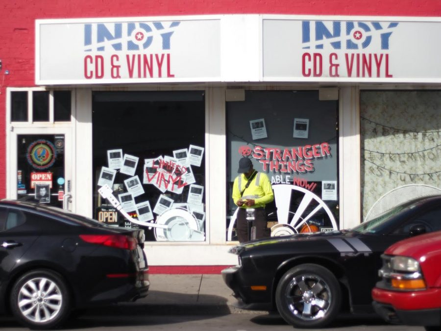 Indy Cd and Vinyl offers affordable music. Photo by Alex Pope.