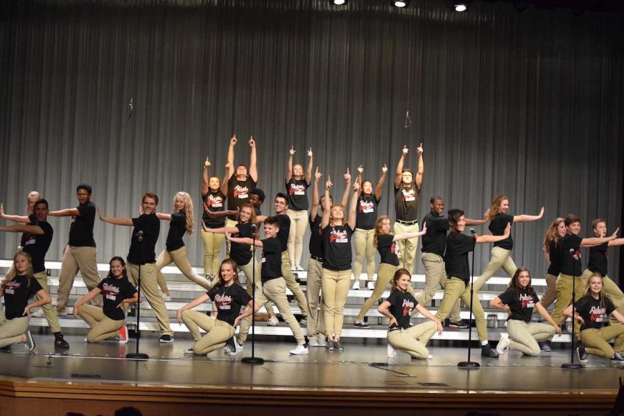 Silver Electrum performs one of their sets at the fall concert on Oct. 6. Photo taken by Hayley Burris.