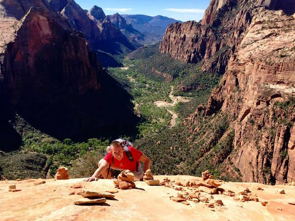 English teacher Kyle Goodwin hikes in Zion National Park in Utah. Goodwin has also hiked in Hawaii, Kaui, Canada, Thailand, Norway and Yosemite. Photo courtesy of Kyle Goodwin.