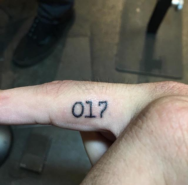 Senior Manny Guerra tattooed 017 for his cousin, who passed away when he a few days after he turned 17. The tattoo represents his cousins youth and innocence and is a daily reminder of his cousin to Guerra. Photo courtesy of Manny Guerra.