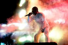 Lamar preforming at music festival Coachella in Indio, California on April 16. This was the first live performance of DAMN. since its release.  Photo used with the permission of the Tribune News Service.