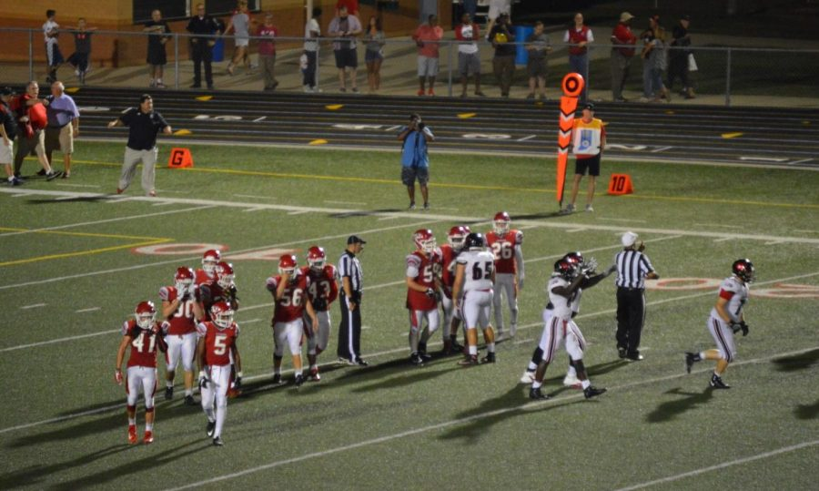 Tigers defense works to stop North Central and recapture the ball late in the 4th quarter. Tigers lose 19-17.