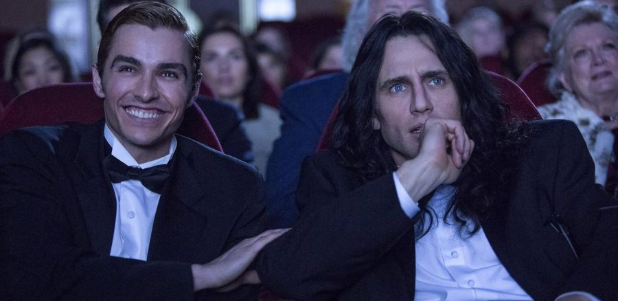 Dave Franco, playing Greg Sestero, and James Franco, as Tommy Wiseau, attend the premiere of their movie The Room in The Disaster Artist. Photo used with the permission of the Tribune News Service.