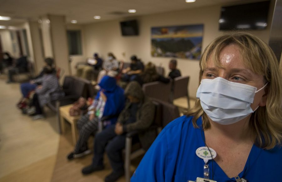 The flu epidemic has reached all the way to the west coast of California. Photo used with permission of Tribune News Service.