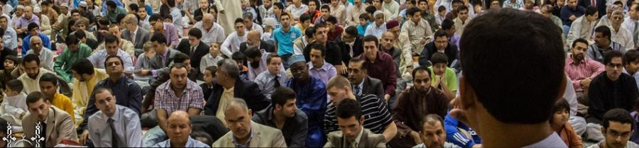 Worshippers gather at the Al-Huda Foundation, the mosque that the majority of of Muslims in Fishers use.
