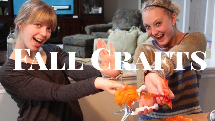 Arts & Culture section assembles fall crafts