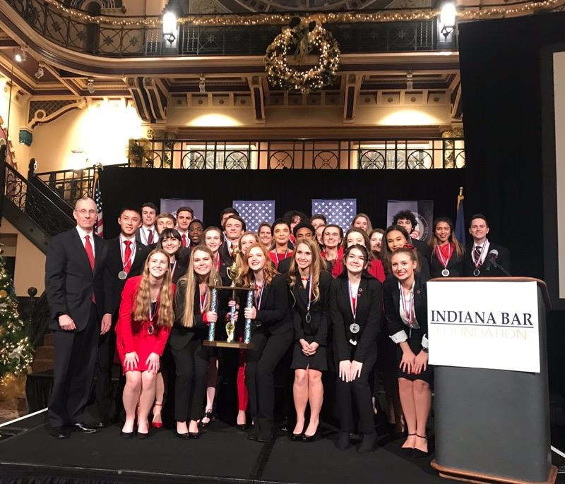 The We the People poses with its trophy at the state competition on Dec.10.