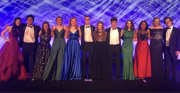 DECA competitors receive honors on the stage at their state competition at the Indianapolis Marriott Downtown on March 4.