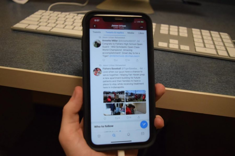 Principal Jason Urbans Twitter account serves as a school hub on social media, as he retweets several developments from teachers, clubs and other administrators.