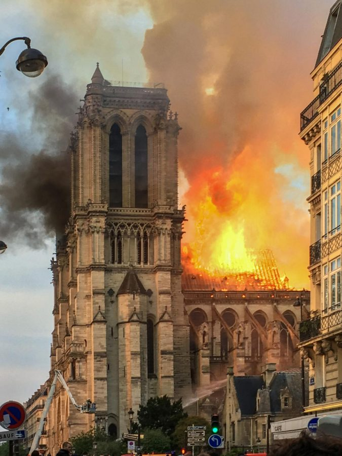 Notre Dame cathedral starts to burn on April 15.