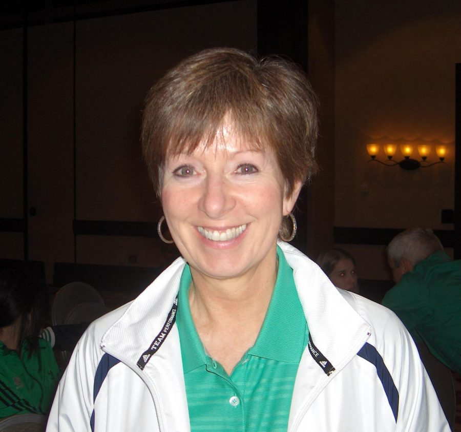Coach Muffet McGraw makes an appearance at the 2011 Womens Basketball Coaches Association Convention in Indianapolis.