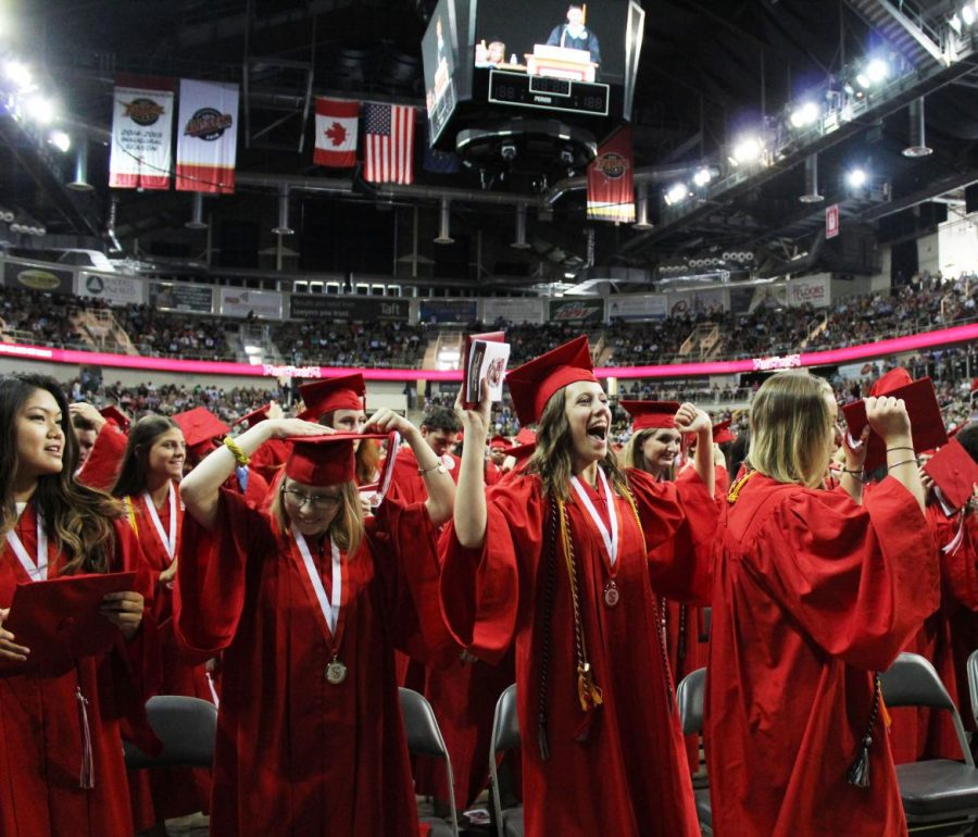 The 2018 FHS graduates celebrate their commencement on June 2, 2018.