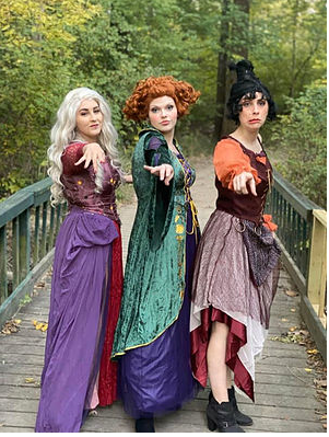 These women dress up as the Sanderson Sisters and are available for hire for events in the Fishers area. They will be greeting people at the All Treats No Tricks event.