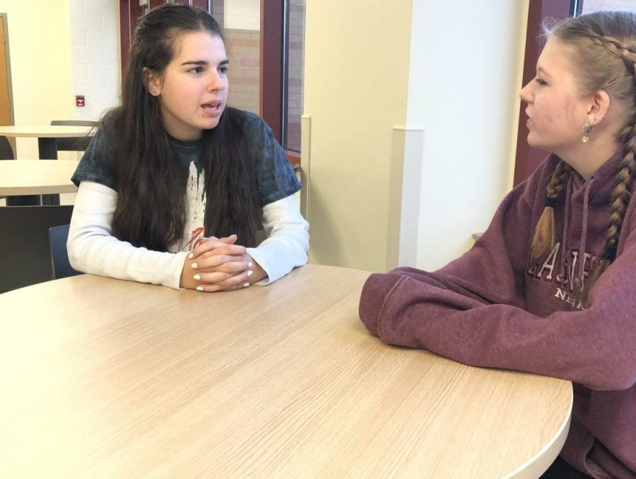 On Tuesday, Seniors Talon Ewing and Grace Pittsley discuss, among other things, the Lure video in the CCA after school.