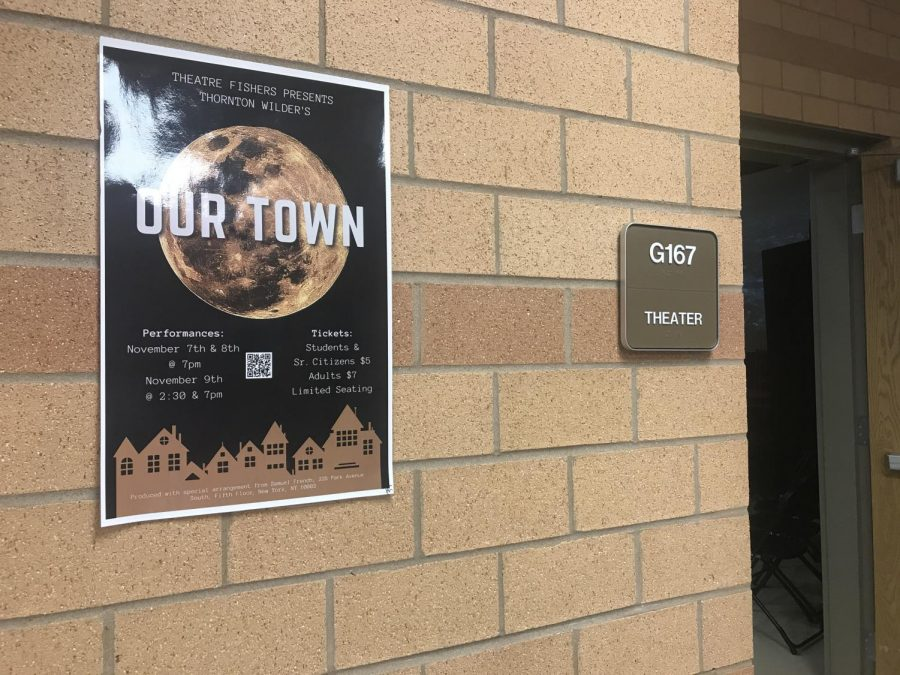 Due to auditorium renovations, the play will take place in the black box. Look for room number G167 with an Our Town poster on the wall.