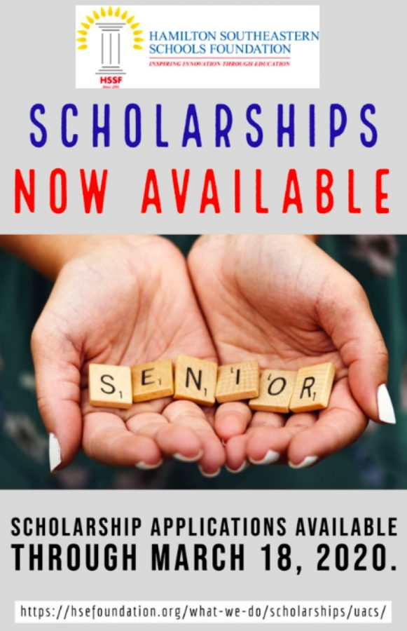 The Hamilton Southeastern Schools Foundation created this graphic in order to advertise the community scholarships. This graphic can be found on the HSSF Twitter @hsefoundation.