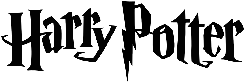 The universal logo for the Harry Potter universe. Originally designed by Mary Grandpre in 2001 for Harry Potter and the Sorcerers Stone.