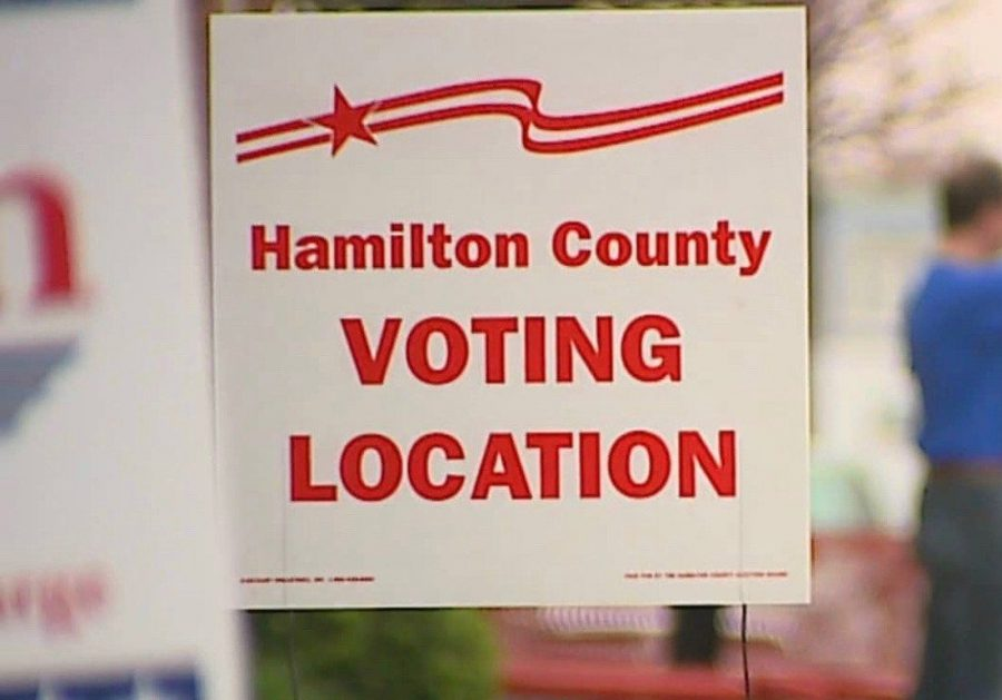 Polling location in Hamilton country opens on May 3, 2016 for citizens to vote in the Republican and Democratic presidential primaries.