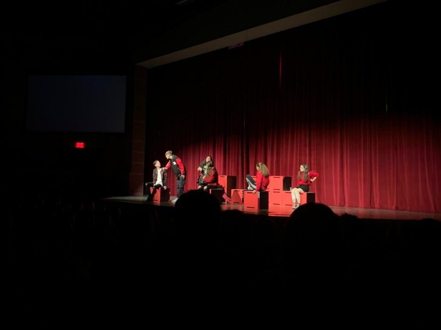 Students watch actors from YAT perform Love Over Dose on March 10 in the auditorium. Photo by Rebekah Shultz.